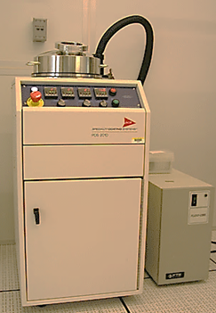 Picture of Parylene spray deposition tool