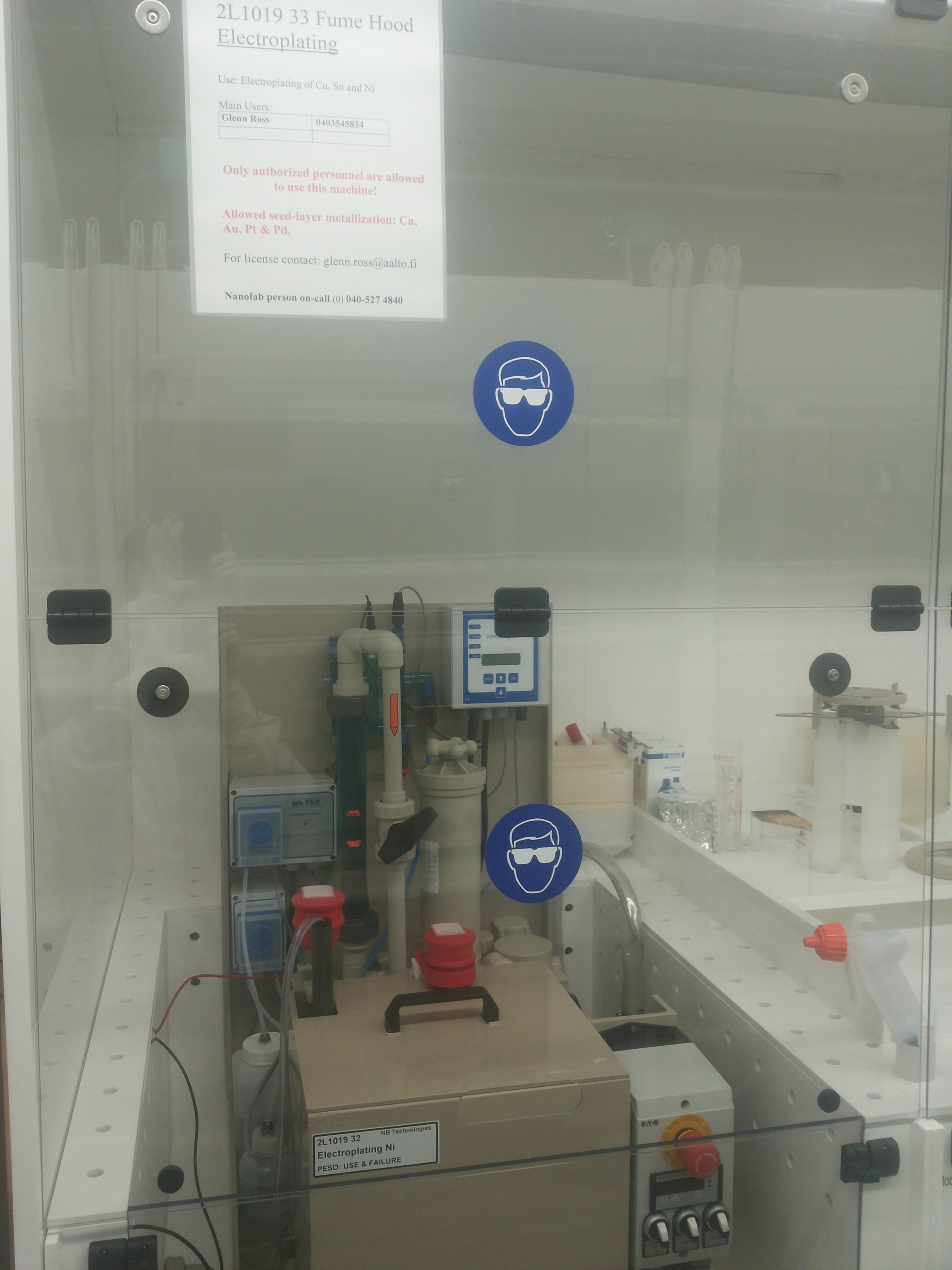 Picture of Fume Hood Electroplating